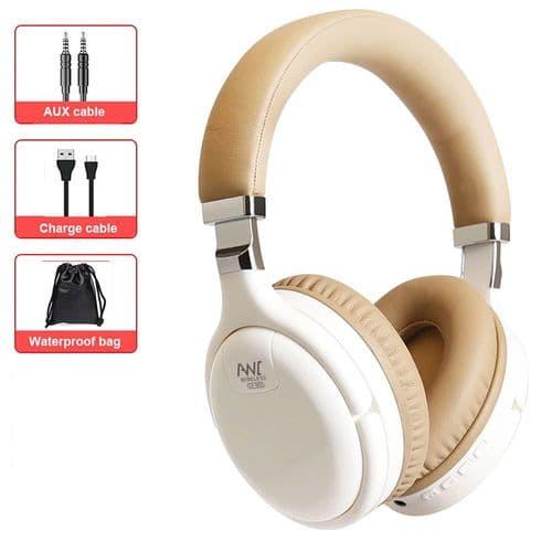 Casque Bluetooth Sans Fil Anc Annulation Active Bruit Avec Micro Câble Filaire